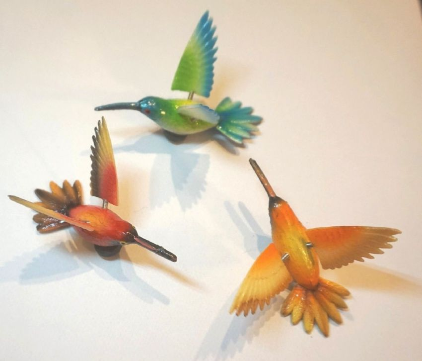 HUMMING BIRD 3D MOVING FRIDGE MAGNETS IDEAL NOTE/MEMO/SHOPPING LIST HOLDER